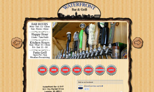 Lansing Waterfront Custom Website
